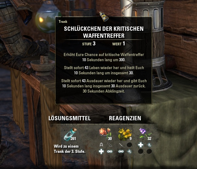 Alchemie - Tränke brauen - wie gehts richtig ? | ElderScrollsPortal.de