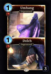 Umhang/Dolch Doppelkarte