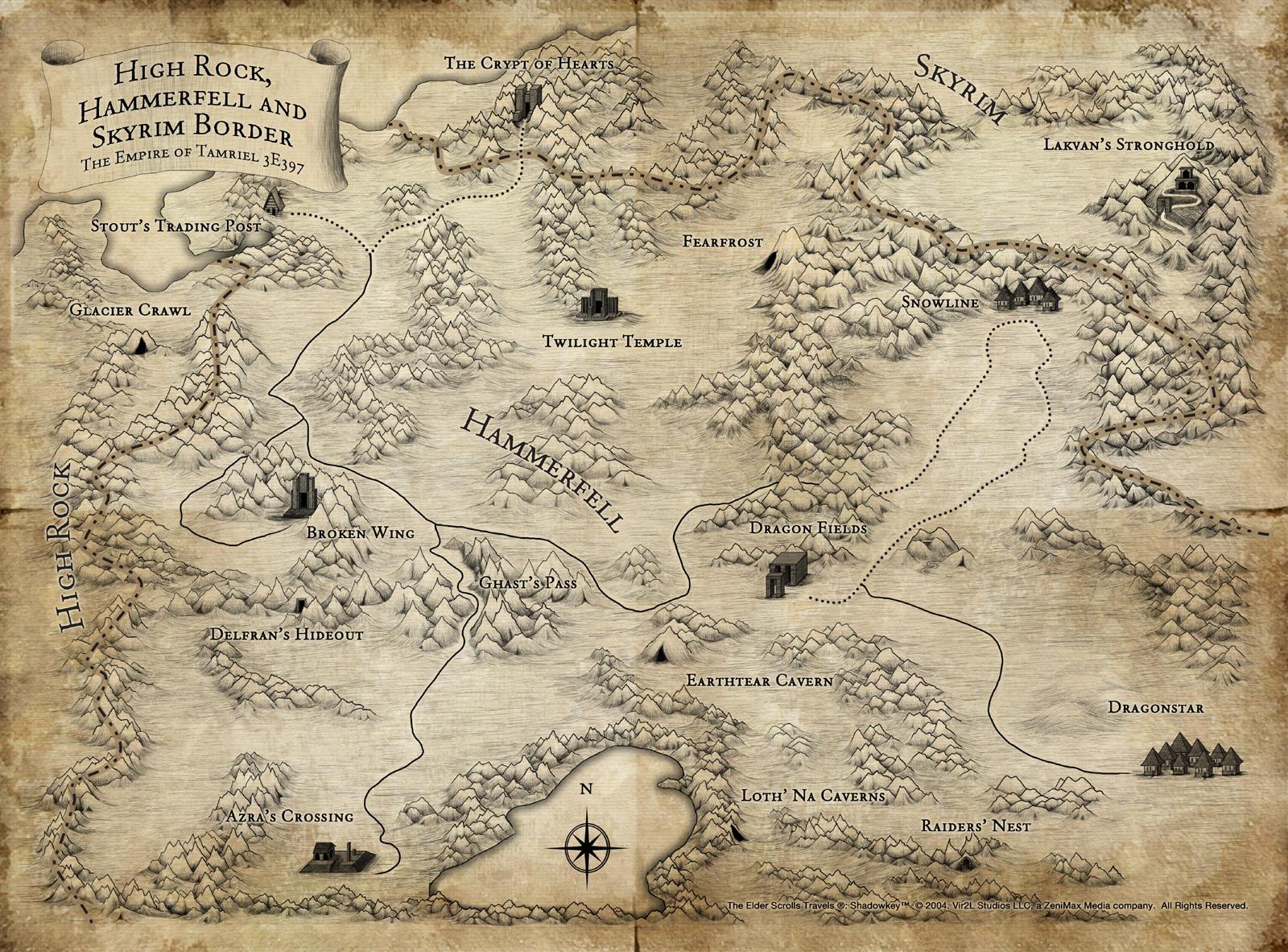 Datei:Shadowkey Karte.jpg – Tamriel-Almanach | ElderScrollsPortal.de