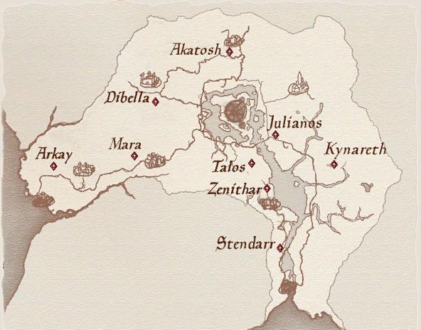 Oblivion Wegschreinkarte Tamriel Almanach Elderscrollsportal De